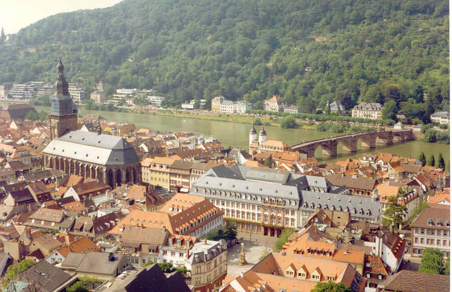 What a beautiful view of Heidelberg!
